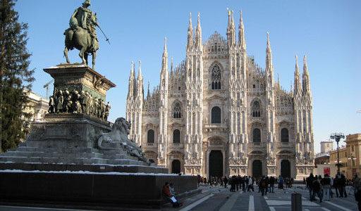 La ville de Milan (Milano) en Italie – une des principales ville de la mode dans le monde